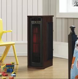 1,500 Watt Electric Infrared Oscillating Tower Heater Wood S