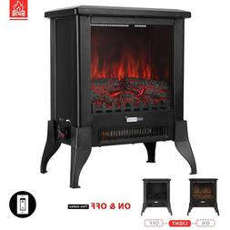 """VIVOHOME 1400W 17"""" Electric Fireplace Stove Space Heater Log"""