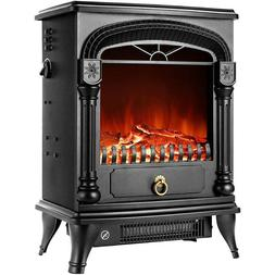 VIVOHOME 1400W Electric Fireplace Space Heater 3D Wood Flame