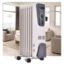 1500 W Electric Oil Filled Radiator Space Heater 5-Fin Therm