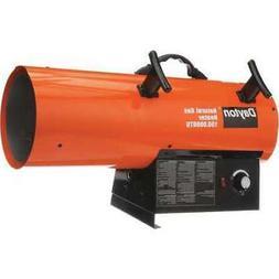 Dayton 150000 BtuH Torpedo Portable Gas Heater, NG, 3VE56