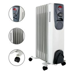 1500W Electric 7-Fin Oil Filled Radiator Space Heater Thermo