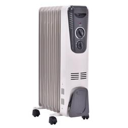 1500W Electric Oil Filled Radiator Space Heater 7-Fin Thermo