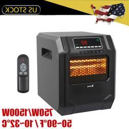 1500W Electric Quartz Heater 4-Element Infrared Space Heater