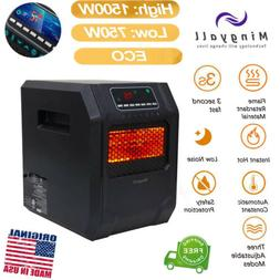 Mingyall 1500W LED Quartz Space Heater Infrared Electric Hea