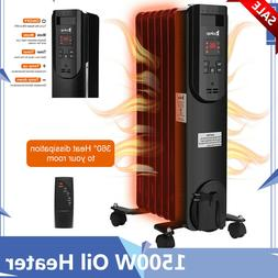 1500W Oil Heater Safe Space Radiator Heater Large Room High