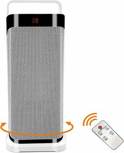 1500W Portable Ceramic Heater for Indoor Use, Remote Control