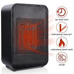 1500W Portable Space Heater Electric Tip-Over Ceramic For Ro