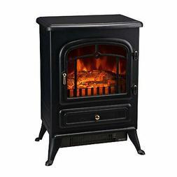 HomCom 16 1500W Free Standing Electric Fireplace - Black
