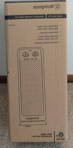 "Westinghouse 18.7"" Ceramic Tower Space Heater. Model# 0571 1"