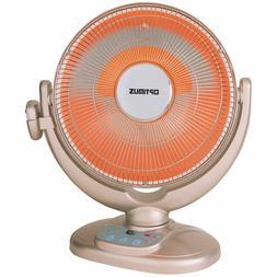 "Optimus 2-Speed 14"" Oscillating Space Heater w/ Tilting Time"