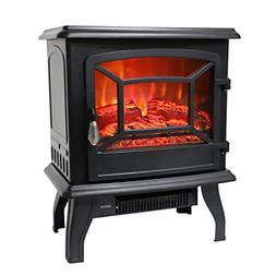 "ROVSUN 20""H Electric Fireplace Stove 4800 BTU Portable Indoo"