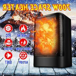 220V Ceramic Space Heater Energy Warm Fan 700W Office Portab