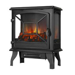 """VIVOHOME 23"""" Electric Fireplace Stove Space Heater w/ 3D Log"""