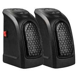 Chige 2 Pack 350W/400W Mini Space Heater, Wall Space PTC Hea