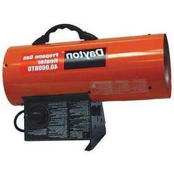 DAYTON 3VE55 Forced Air Portable Gas Heater, BtuH 40000, 300