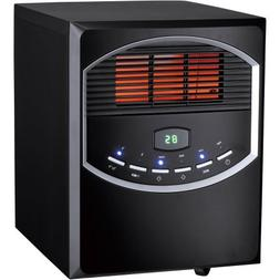 4-Element Quartz Electric Room Heater with Remote, 750/1500