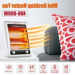 400W-800W Portable Electric Space Heater Fan Desktop 2 Gears