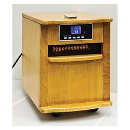 5 120 BTU Output Infrared Quartz Heater 1500 Watts in Oak