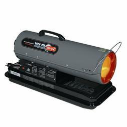 50,000 BTU Kerosene Forced Air Utility Heater with Run Time