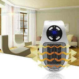 500W Plug-in Wall-Outlet LCD Space Mini Heater Portable Dura