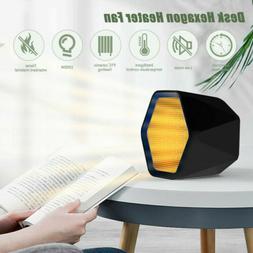 600W Mini Electric Heater Portable Desktop Warmer Fan Space