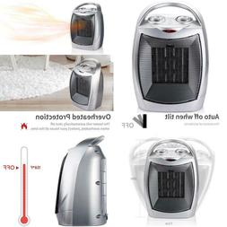700W/1500W Ceramic Space Heater With Adjustable Thermostat,