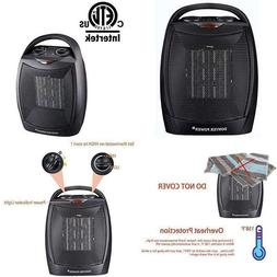 Donyer Power 750/1500 Watt Portable Space Heaters With Overh