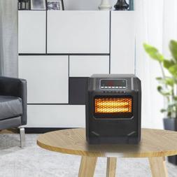 750W / 1500W Digital Infrared Space Heater Electric 4 Quartz