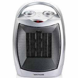 Brightown 750W/1500W ETL Listed Quiet Ceramic Space Heater w