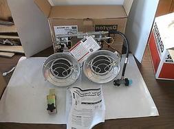 Dayton 9000/30000 BtuH Tank Top Portable Gas Heater, LP, 5RC