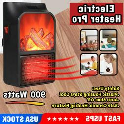 Portable Electric Space Heater With Thermostat Ceramic Heate