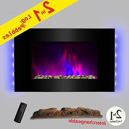 AKDY 36 inch Wall Mount Electric Fireplace Space Heater With