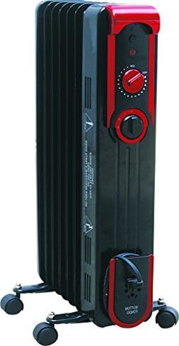 Comfort Glow EOF261 7-Fin Oil Filled Radiant Heater  Black