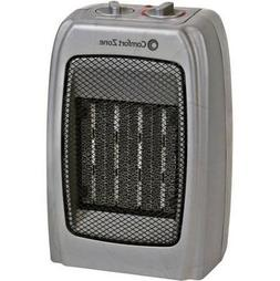 Comfort Zone Ceramic Heater - Silver