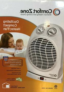 Comfort Zone Deluxe High Efficiency Oscillating Fan- Heater
