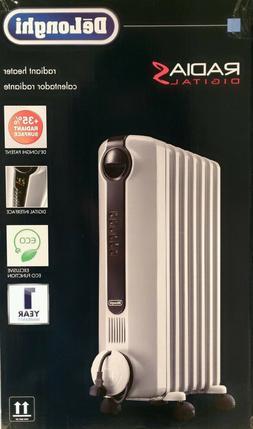 De'Longhi - RadiaS Eco Electric Oil Radiator Heater - Gray