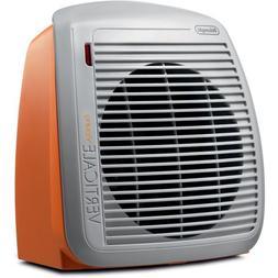 Delonghi - Safeheat Fan Heater - Gray/orange