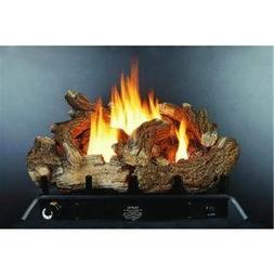 Kozy World, GLD2460R Fireplace Log Set with Remote, Vent-Fre
