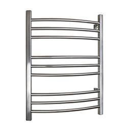 WarmlyYours Riviera Towel Warmer, 9 bar, Brushed Stainless S