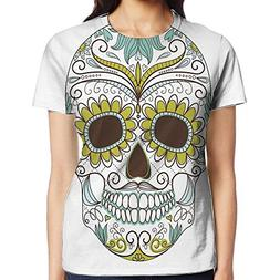 WuLion Folk Calavera Elements Floral Day of The Dead Theme F