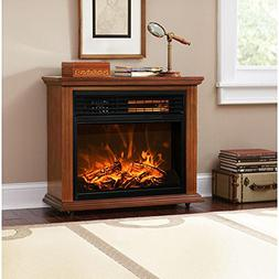 XtremepowerUS Infrared Quartz Electric Fireplace Heater Fini
