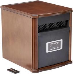 AmazonBasics Portable Eco-Smart Space Heater - Wood