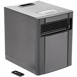 Basics Portable Eco-Smart Space Heater Black Home &amp Kitch