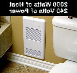 High Quality Bathroom Wall Heater Pulsair 2002TW White: Heat