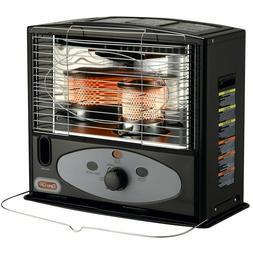 Black 10,000 BTU Kerosene Radiant Utility Heater with Electr