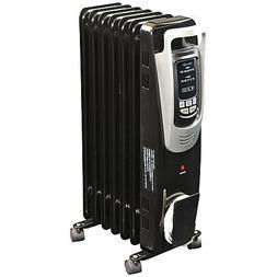 Black Modern Electric Oil-filled Radiator Heater | Contempor
