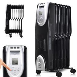 Black Space Heater Electric Radiator Portable Oil Filled Hea