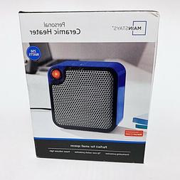 Mainstays Brand Personal Ceramic Heater  250 Watts Blue