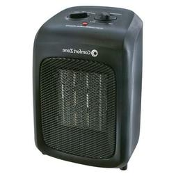 Comfort Zone Ceramic Heater in Black